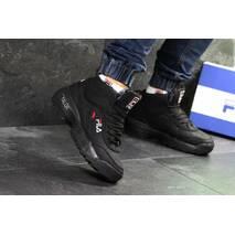 Мужские кроссовки черные Зима Fila Yalor 6877