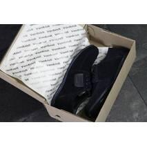 Мужские туфли темно синие 7504
