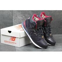 Подростковые зимние кроссовки New Balance 696 Revlite темно синие с красным 3559