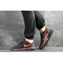 Мужские кроссовки черные с красным Nike Free Run 5.0 7675