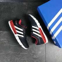 Мужские кроссовки темно синие с белым Adidas Clima Cool 7770
