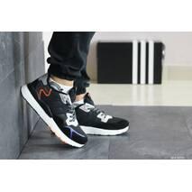 Мужские кроссовки черные с белым и оранжевым Adidas Nite Jogger Boost 8438