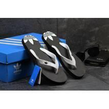 Мужские вьетнамки Adidas черные 2414