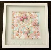 Картина с объёмным изображением Бабочки розовые