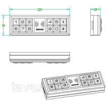 Замок электронный мебельный кодовый для раздвижной стеклянной дверки S120G