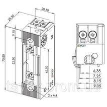 Защелка электромеханическая ROUREG - Н.О. с защитным диодом