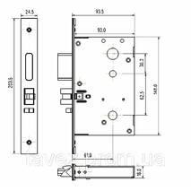 Замок гостиничный электрнный B001 для тонкой двери