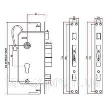Замок электронный с биометрическим доступом 118C87F-MOLI