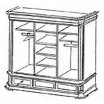 Дубовый шкаф купе Колизей