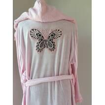 """Ніжно рожевий халат з аплікацією метелика тм """"Nusa"""""""