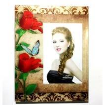 Рамка скляна серія Квіти, червоні троянди