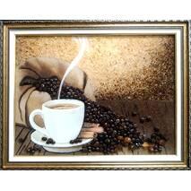 "Картина из янтаря ""Кофе"" 30х40 см"