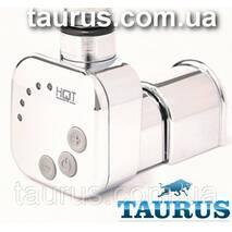 Квадратний ТЭН HeatQ MS chrome: регулятор 30-60С  таймер 2ч.  маскування дроту  LED; у полотенцесушитель 1/2