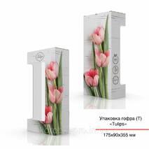 Упаковка-тубус гофра для хенд-мейд 175х90х355 мм, Тюльпан