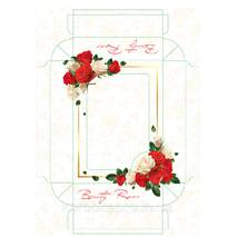 Упаковка картон для постельного белья 375х275х70 мм, Роза