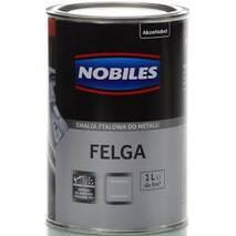 """Емаль для автодисків """"NOBILES FELGA"""" срібна напівглянсова 0,5л."""