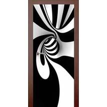 3D двери Чёрно-белый вихрь 9231, 90х200 см