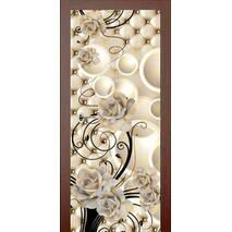3D двери Белые розы 9247, 90х200 см