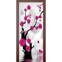 3D двери Японская роза 9246, 90х200 см