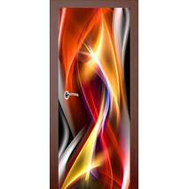 3D двери Танец пламени 9241, 90х200 см