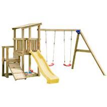 Детская игровая площадка с 2 горками Blue Rabbit CASCADE + SWING Жовта