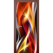 3D двери Танец пламени 9241, 70х200 см