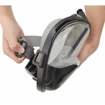 Маска для сноркелінгу TheNice F2 EasyBreath - III на усе обличчя для дайвінгу L/XL Чорний