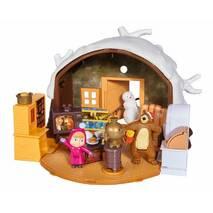 Домик Медведя зимний Simba 9301023, игровой набор из серии Маша и Медведь