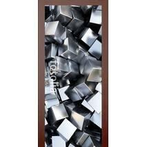 3D двери Серебристые кубики 9257, 90х200 см