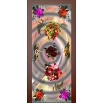 3D двери Букет на сером 9240, 70х200 см