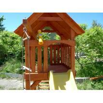 Дитячий ігровий комплекс Будиночок з гіркою   пісочниця