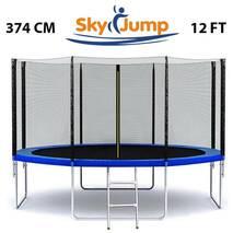 Батут SkyJump 12 фт., 374 см.із захисною сіткою і драбинкою