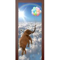 3D двері Слон з кульками 9430, 80х200 см
