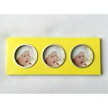 "Фоторамка  "" Три фото"" жовтий"