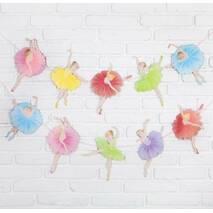 Бумажная гирлянда Балерины  2,5 метра