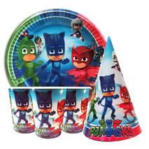 """Набір для дитячого дня народження """" Герої в масках """" Тарілки - 10 шт Скляночки - 10 шт Ковпачки - 10 шт"""