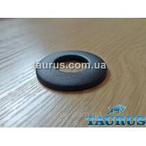 """Чёрный mini фланец из н/ж стали D42 мм, компактный, 1/2"""". Крашенный TAURUS"""