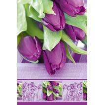 """Пакет для подарка гигант вертикальный """"Тюльпаны"""" 30х47 см  (6 шт/уп)"""