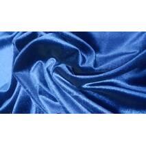Бархат стрейч тёмно-синий