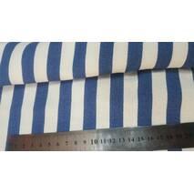 Бавовна біла смуга синя