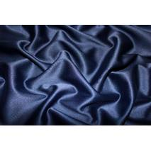 Атлас стрейч щільний (темно--синій)
