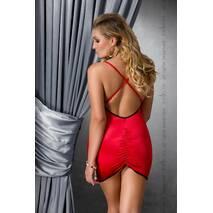 Сорочка приталенная с открытой спиной LENA CHEMISE red 6XL/7XL - Passion, трусики