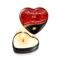 Масажна свічка сердечко Plaisirs Secrets Vanilla (35 мл)