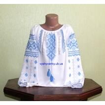 вышитая рубашка ручной работы для девочки