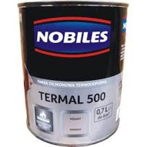 Высокотемпературная краска Nobiles Termal 500 чёрная 0,7л. Топ продаж!