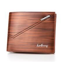 Мужской кошелек BAELLERRY Fashion Young Style Мужской кожаный молодежный кошелек Short Коричневый