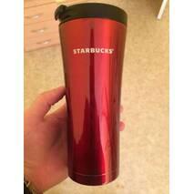 Термокружка Starbucks (Тамблер Старбакс) 500 мл бордовая