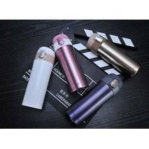 Термос Starbucks - тамблер термокружка с безопасной крышкой (Старбакс) 450 мл  розовый