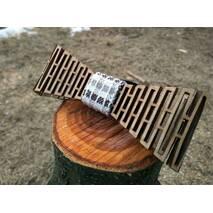 Деревянная бабочка галстук Клетка ручной работы, серия Flexion