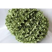 Рюші - атлас, 5см*50м  Зелений